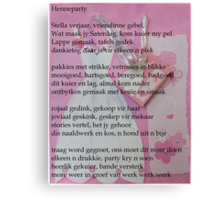Henneparty Canvas Print