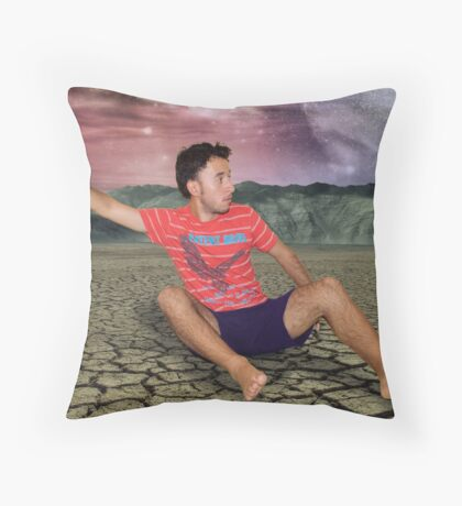Calling A Taxi In The Middle Of Nowhere Throw Pillow