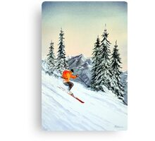 Skiing - The Clear Leader Canvas Print