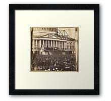 Inauguration of President Abraham Lincoln, March 4, 1861 Framed Print
