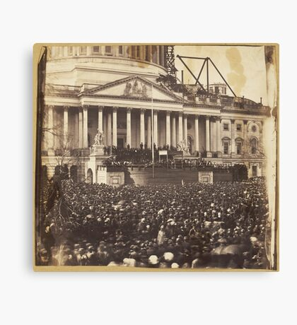 Inauguration of President Abraham Lincoln, March 4, 1861 Canvas Print