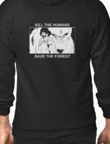 Kill the humans, save the forest Zipped Hoodie