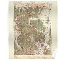 USGS Topo Map Oregon Cottage Grove 282373 1921 62500 Poster