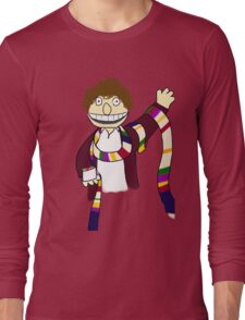 Fourth Doctor Muppet Style Long Sleeve T-Shirt