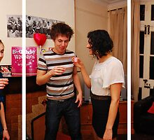 A Triptych View on Student Life - Pre-Drinks by Adam Nicholson