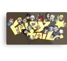 fairy tail erza natsu chibi anime manga shirt Metal Print