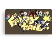fairy tail erza natsu chibi anime manga shirt Canvas Print