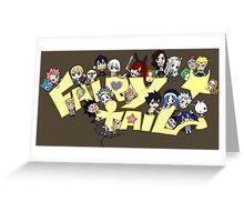 fairy tail erza natsu chibi anime manga shirt Greeting Card