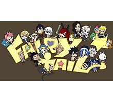fairy tail erza natsu chibi anime manga shirt Photographic Print