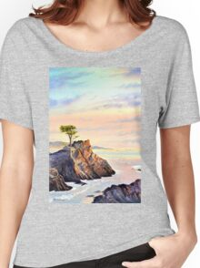 Lone Cypress Tree Pebble Beach California Women's Relaxed Fit T-Shirt