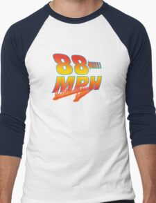 88MPH + Flames Men's Baseball ¾ T-Shirt