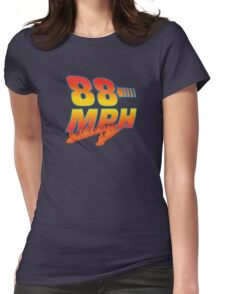 88MPH + Flames Womens Fitted T-Shirt