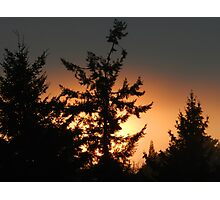 Grey Sunset Photographic Print