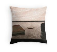 On a Sea of Glass with Don Miguel Throw Pillow