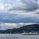 Puget Sound (Kingston Ferry) by rocamiadesign