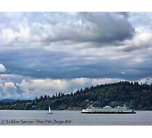 Puget Sound (Kingston Ferry) Photographic Print