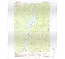 USGS Topo Map Oregon Cottage Grove Lake 279447 1987 24000 Poster
