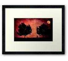 Moon Ride Framed Print