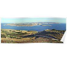 Panorama of Gozo Channel Poster