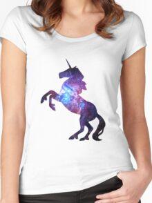 Galaxy Unicorn Women's Fitted Scoop T-Shirt