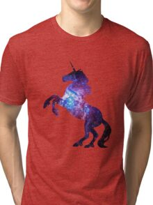 Galaxy Unicorn Tri-blend T-Shirt