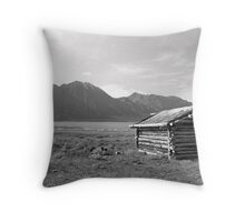Cabin at Silver City - Yukon Territory Throw Pillow