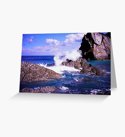 Devon rocky coast Greeting Card