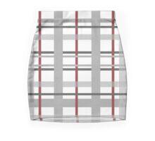 Gray Red Plaid Mini Skirt
