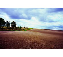 Ploughed field in Hertfordshire. Photographic Print