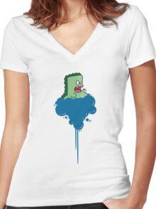 Monzdah Shirt Women's Fitted V-Neck T-Shirt