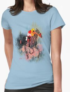 Colorful Racehorse in Typography T-Shirt