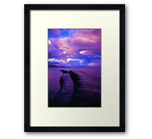 Harbour wall in the evening Framed Print