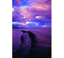 Harbour wall in the evening Photographic Print