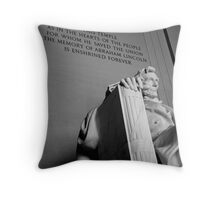 Lincoln Memorial, Black & White, Washington, D.C. Throw Pillow