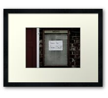 ...with either chips or new potatoes Framed Print