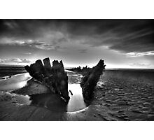 Berrow shipwreck hdr Photographic Print