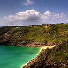 Cornwall - Porthcurno and the Minack from afar by Photoplex