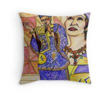 Woman of Song Throw Pillow