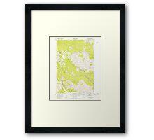 USGS Topo Map Oregon Green Mountain 280096 1949 24000 Framed Print