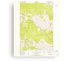 USGS Topo Map Oregon Green Mountain 280096 1949 24000 Canvas Print