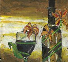 wine still life by Elka Melamed