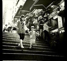 'Watch your step' Pottinger Street, Hong Kong by Cara Gallardo Weil