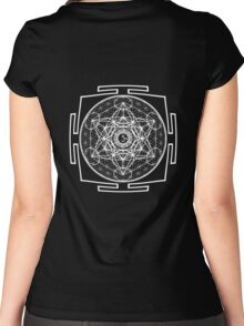 Metatron_Chakra_Yantra - Antar Pravas 2011 - Visionary Art Women's Fitted Scoop T-Shirt