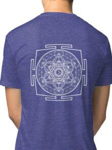 Metatron_Chakra_Yantra - Antar Pravas 2011 - Visionary Art Tri-blend T-Shirt