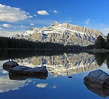 Early morning at Two Jack Lake by Michael Collier