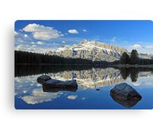Early morning at Two Jack Lake Canvas Print