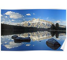 Early morning at Two Jack Lake Poster