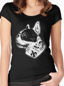 Tattooed French Bulldog Women's Fitted Scoop T-Shirt