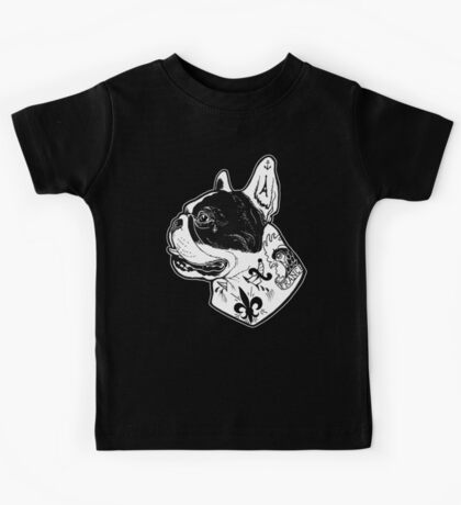 Tattooed French Bulldog Kids Clothes