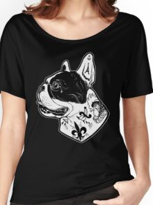 Tattooed French Bulldog Women's Relaxed Fit T-Shirt